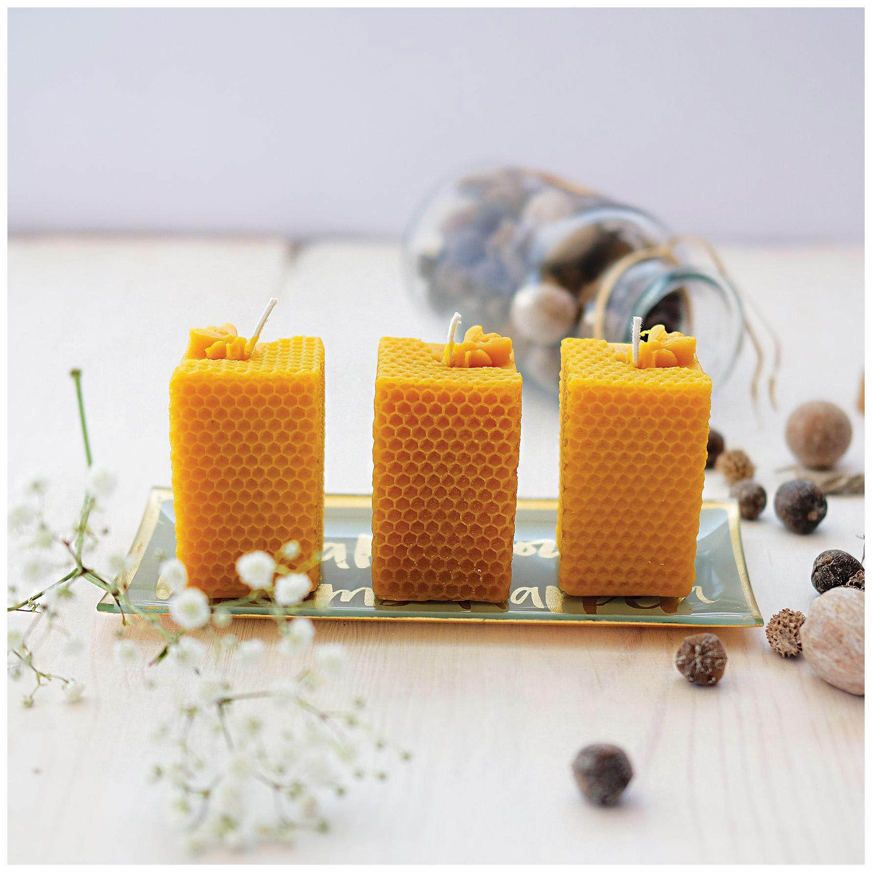 Beeswax Honeycomb Candles 100% Bees Wax